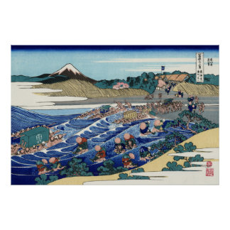 Fuji from Kanaya on the Tōkaidō Poster