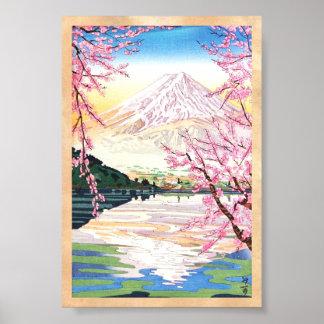 Fuji from Kawaguchi Okada Koichi shin hanga japan Poster