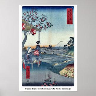 Fujimi Teahouse at Zoshigaya by Ando, Hiroshige Poster