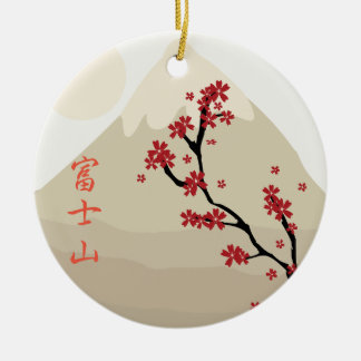 Fujisan: Mount Fuji Ceramic Ornament