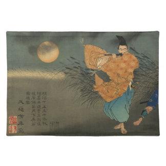Fujiwara no Yasumasa Plays Flute By Moonlight Placemat