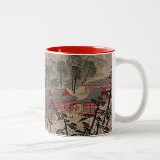 Fūkeiga - Ando Hiroshige Two-Tone Coffee Mug