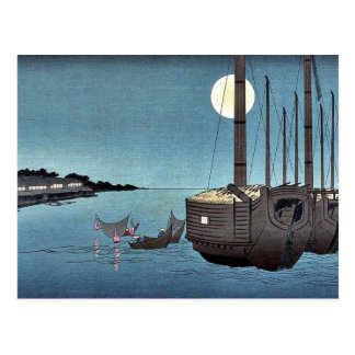 Fukeiga by Ando, Hiroshige Ukiyoe Postcard