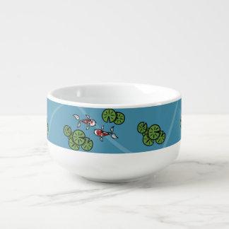 Fuku and Heiwa the Koi Soup Mug