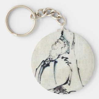 Fukurokuju,the god of wisdom,wealth and long life keychain