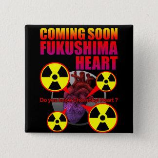 Fukushima heart 2 inch square button