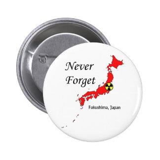Fukushima Japan Nuclear Disaster Pinback Buttons