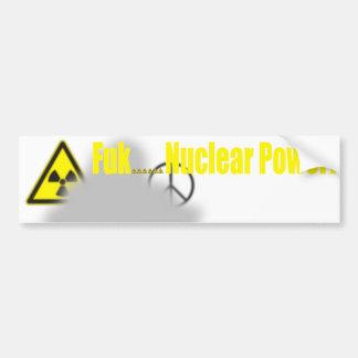 Fukushima Lesson Bumper Sticker
