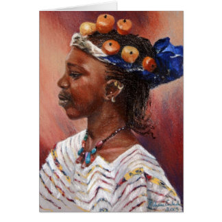 Fulani Amber Bead Girl Card