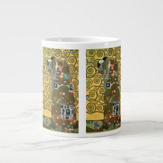 Fulfillment aka The Embrace by Gustav Klimt Large Coffee Mug