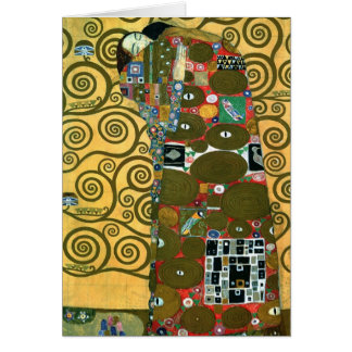 Fulfillment The Embrace by Gustav Klimt Greeting Card