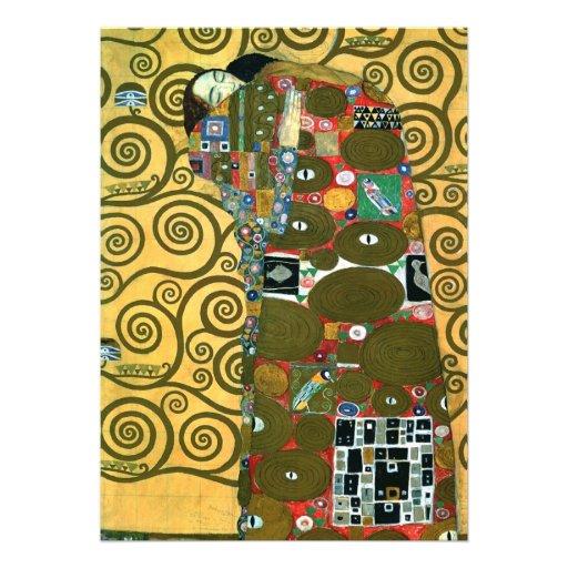 Fulfillment (The Embrace) by Gustav Klimt Custom Invite