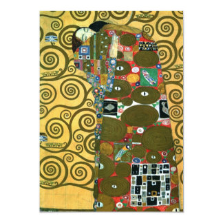 Fulfillment (The Embrace) by Gustav Klimt 5x7 Paper Invitation Card