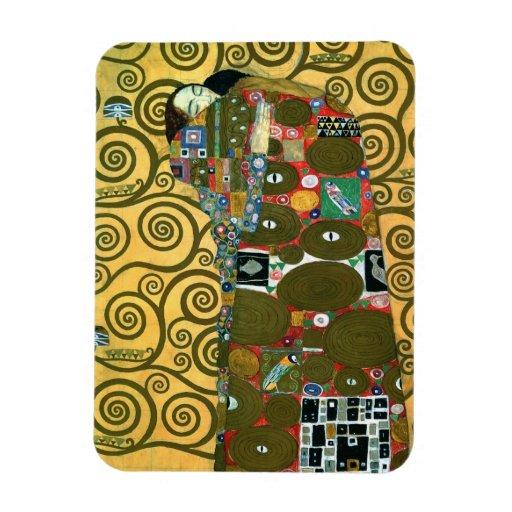 Fulfillment (The Embrace) by Gustav Klimt Rectangle Magnets