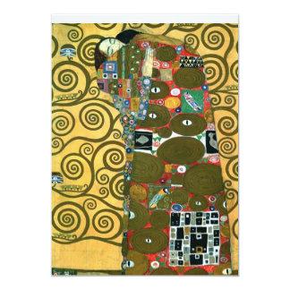 "Fulfillment (The Embrace), Klimt, Save the Date 5"" X 7"" Invitation Card"