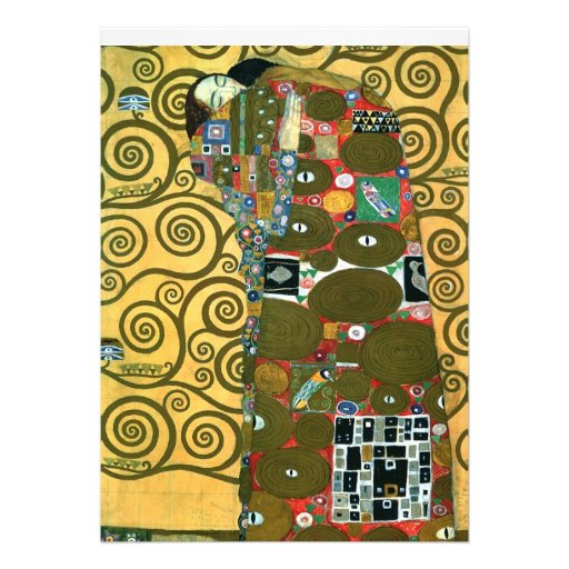 Fulfillment (The Embrace), Klimt, Save the Date Announcement