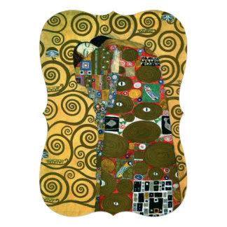Fulfillment The Embrace Klimt Vintage Wedding Cards