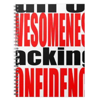 full awesomeness lacking confidence red motivation spiral notebooks