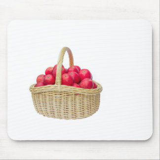 Full basket with red apples mouse pad
