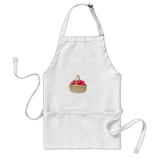Full basket with red apples standard apron