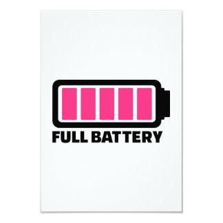 Full battery invitation
