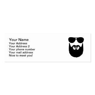 Full beard sunglasses business card