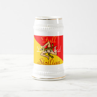 FULL BLOODED SICILIAN BEER STEIN