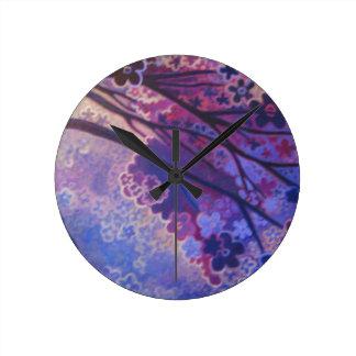 Full Bloom, Cherry Blossom Tree art products Wallclock