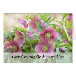 Full Bloom - Hellebores! Card