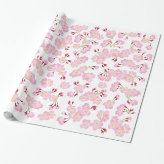 Full bloom pink sakura (Cherry blossom) pattern Wrapping Paper