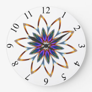 Full Bloom Round (Large) Wall Clock