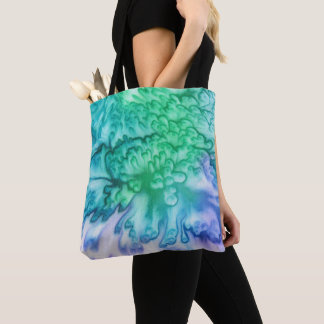 'Full Bloom' Silk Abstract Tote Bag
