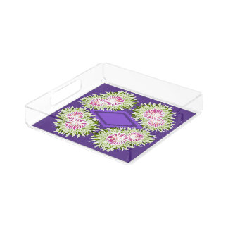 Full Blossom Pattern Acrylic Tray