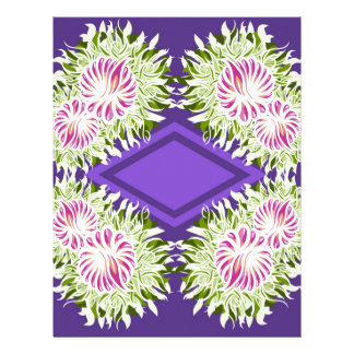 Full Blossom Pattern Letterhead