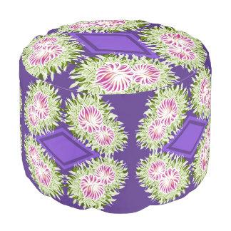 Full Blossom Pattern Pouf