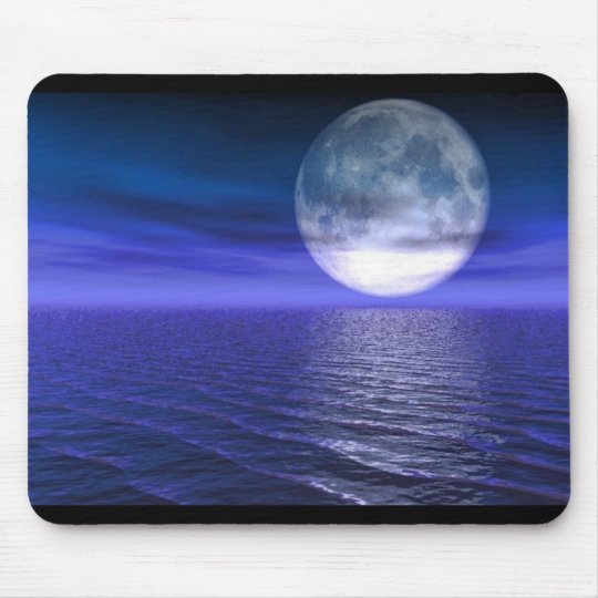 Full Blue Moon Mouse Pad