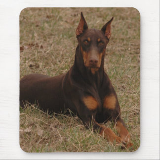 Full Color Red and Rust Doberman Pinscher Mouse Pad