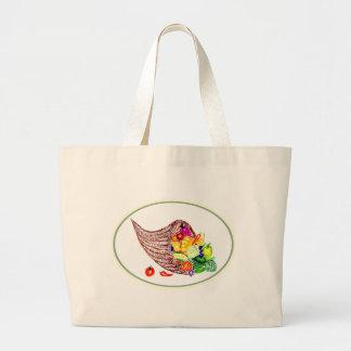 Full Cornucopia Watercolor Large Tote Bag