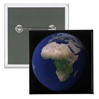 Full Earth showing Africa, Europe, &  Middle Ea 2 Inch Square Button