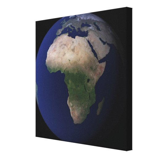 Full Earth showing Africa, Europe, &  Middle Ea Gallery Wrapped Canvas