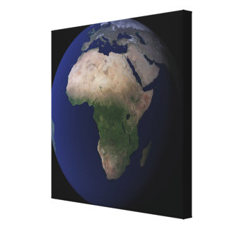 Full Earth showing Africa Europe Middle Ea Gallery Wrapped Canvas