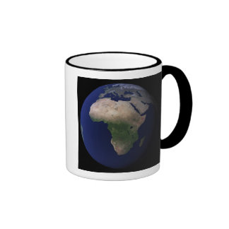 Full Earth showing Africa, Europe, &  Middle Ea Ringer Coffee Mug