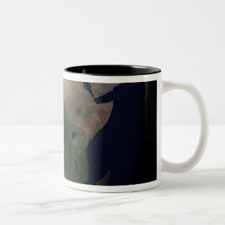 Full Earth showing Africa, Europe, &  Middle Ea Two-Tone Mug