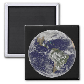 Full Earth showing North America and South Amer 6 Magnet