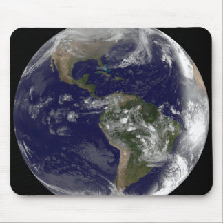 Full Earth showing North America and South Amer 7 Mouse Pad