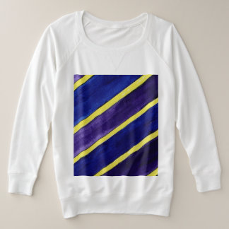 Full figure Women Striped design sweat shirt. Plus Size Sweatshirt