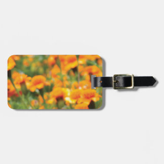 full flow of flowers luggage tag