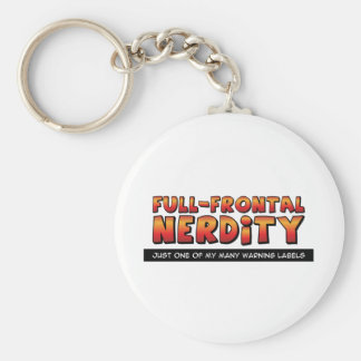 Full Frontal Nerdity Basic Round Button Keychain