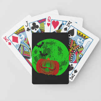 Full Halloween Moon Bicycle Playing Cards