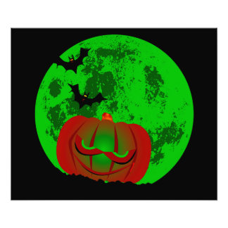 Full Halloween Moon Photo Print